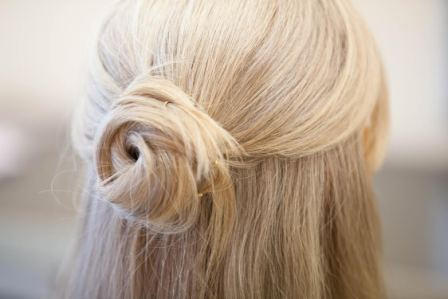 Our hair how to's…. Half-up half-down casual bun